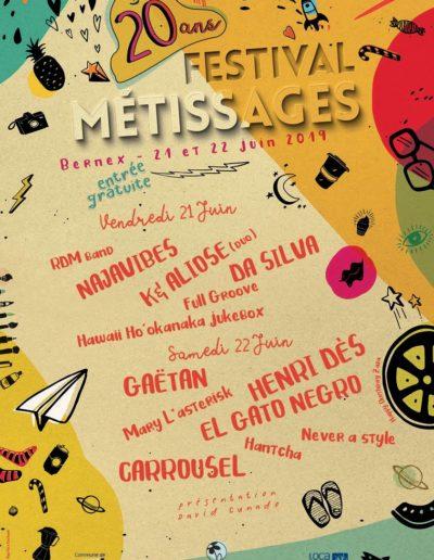 Crayons Copains sera présent le samedi 22 juin lors du Festival Métissages à Bernex ! De 14h00 à 19h00, venez déposer vos crayons à notre stand et profitez-en pour faire des dessins qui seront envoyés à l'association bénéficiaire du festival, au Togo